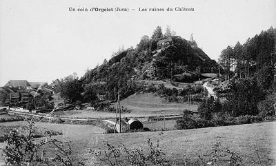 Les ruines du château d'Orgelet