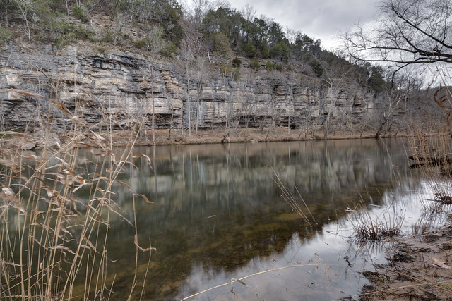 Ordovician limestone cliffs, Caney Fork River, Smith County, Tennessee