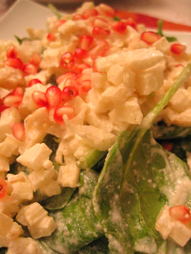 spinach_and_fennel_salad with pomegranate_seeds | by tofu666