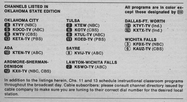 Oklahoma State Edition (April 3, 1976) | From my TV Guide co