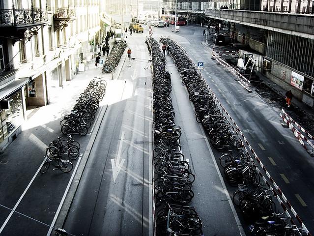 Bikes at the SBB train station, Bern
