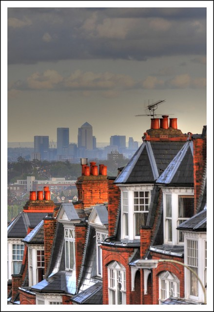 Muswell Hill viewing Canary Wharf