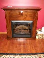 Dimplex Holbrook Burnished Walnut Electric Fireplace Mantel Package