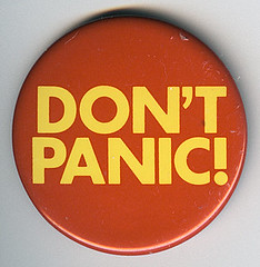 Don't Panic Badge | by Jim Linwood