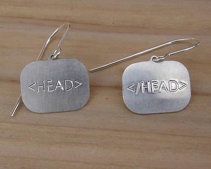HTML HEAD earrings | by TaopaiC