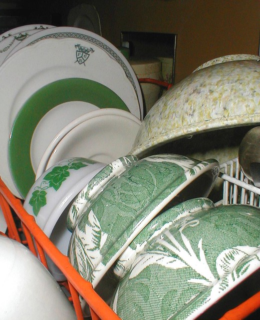 Green Dishes- Spring
