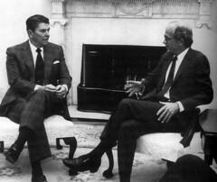 Ronald Reagan & Chester Crocker   by amaah