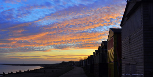pink blue sea england sky orange colour beach beauty sunrise skyscape kent sand colours shed huts hut shore tranquil
