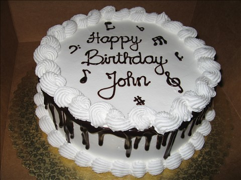 Phenomenal Johns Birthday Cake Chocolate Cake Filled With Bavarian C Personalised Birthday Cards Sponlily Jamesorg