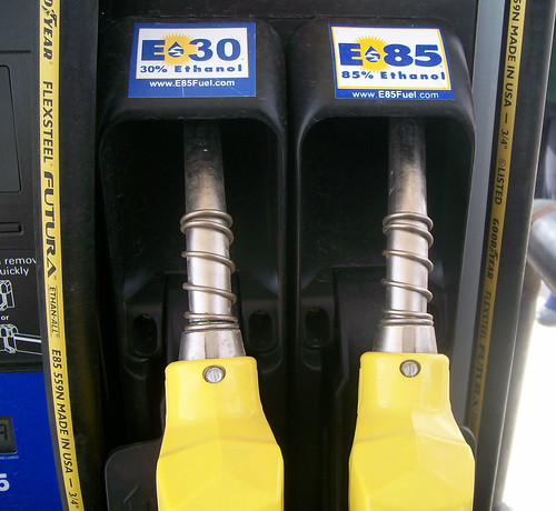 A flexible fuel pump with ethanol