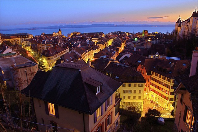 Its five o'clock...December 31 2007. Switzerland /Neuchâtel.