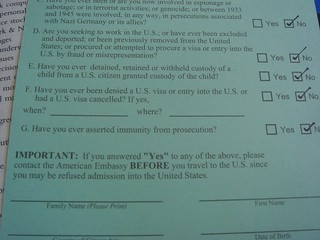 visa waiver form handed out 36000 feet above the atlantic ocean.jpg