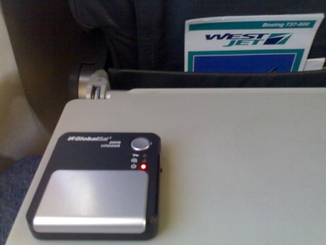 GlobalSat DG-100 GPS On WestJet