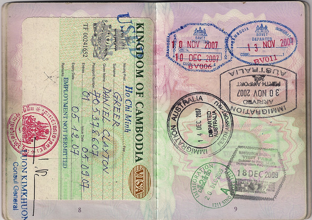 British Passport: Cambodia, Australia, Singapore