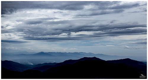 chiangmai thailand mountains clouds asia