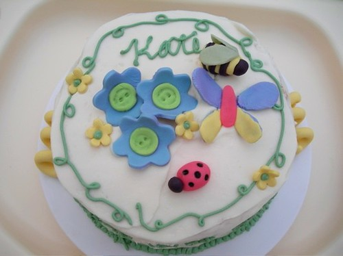 Smash cake for butterfly cake