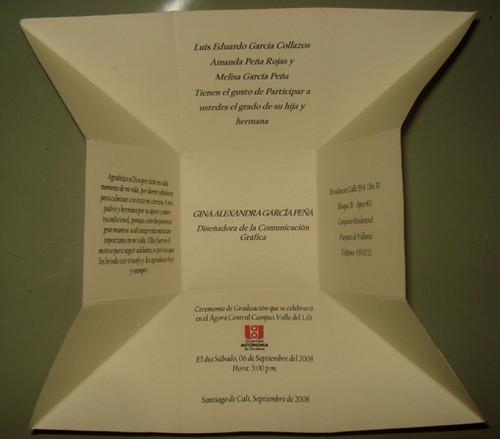Tarjeta Invitacion Caja Abierta Volarte Empaques Y