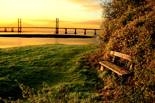 bridge wales sunrise river dawn crossing severn riversevern blackrock monmouthshire secondseverncrossing portskewett flickrchallengewinner