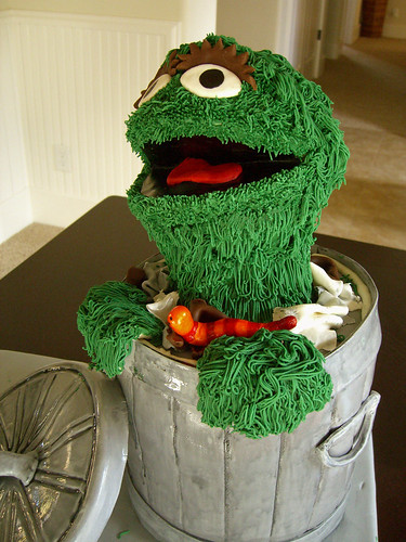 Oscar The Grouch Side This Was A Chocolate Cake Filled