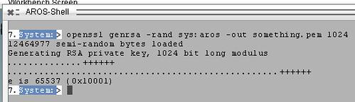 aros-openssl   OpenSSL running on AROS    Robert Norris   Flickr