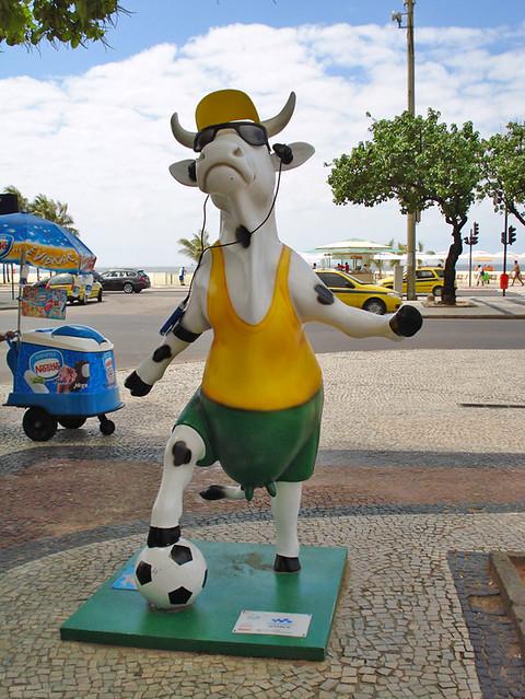 Cow Parade em Copacabana
