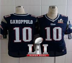 Nike Patriots #10 Jimmy Garoppolo Navy Blue Team Color Super Bowl LI 51 Men's Stitched NFL Elite Jersey