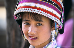 Portrait of woman with traditional hat. China | by World Bank Photo Collection