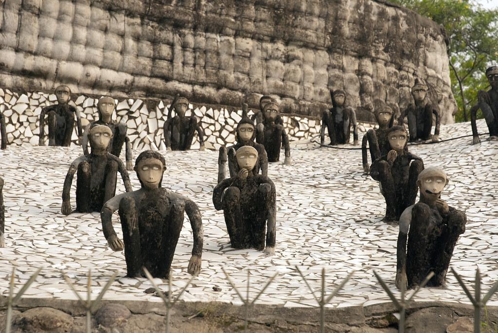 Monkeys, Rock Garden Chandigarh