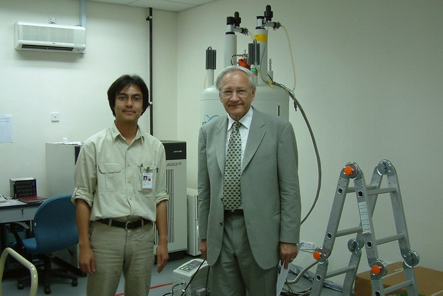 With Chemistry Nobel laureate, Prof. Dr. Richard R. Ernst - 2004