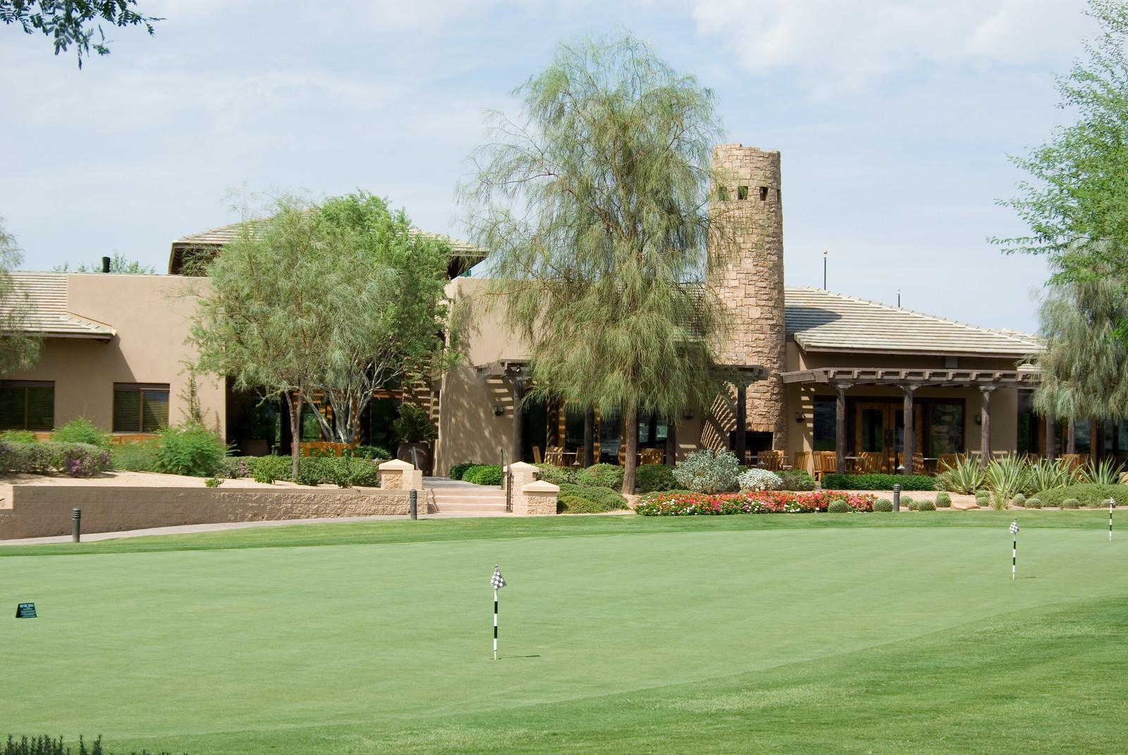 Westin Kierland Resort Golf Course Clubhouse & putting green - Scottsdale Arizona