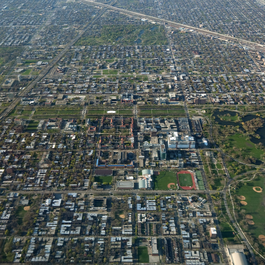 Hyde Park, University Of Chicago, Woodlawn Aerial View
