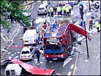Al Queda blows up London bus.