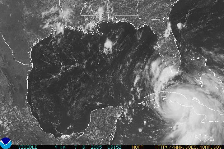 Hurricane Dennis position at 11:00am 7-8-2005
