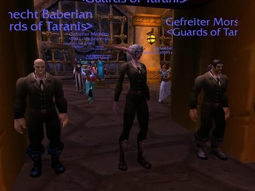 Sicherheitsdienst in der bank