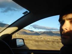 grug (sic) drives a SICK girl through the mountains