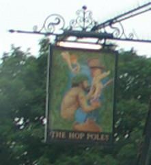 The Hop Poles Pub SIgn