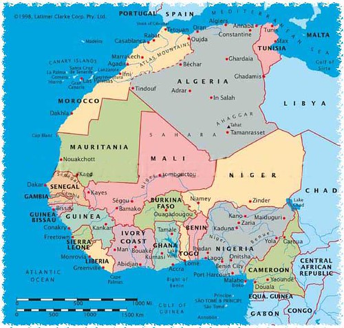 NW Africa map | Steph C | Flickr