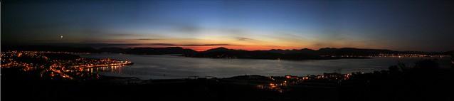Greenock night panorama
