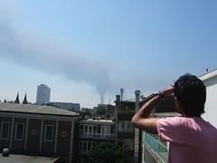 looking at smoke