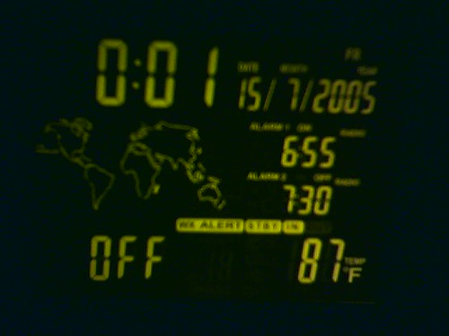 87 Degrees at Midnight...  In my bedroom