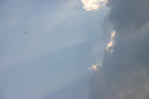 Glider in Clouds