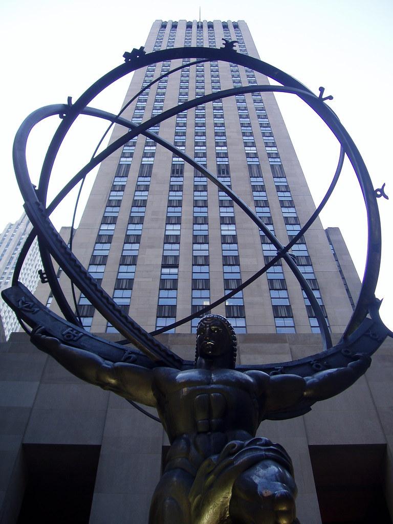 Statue Of The Greek God Atlas Outside The International Bu