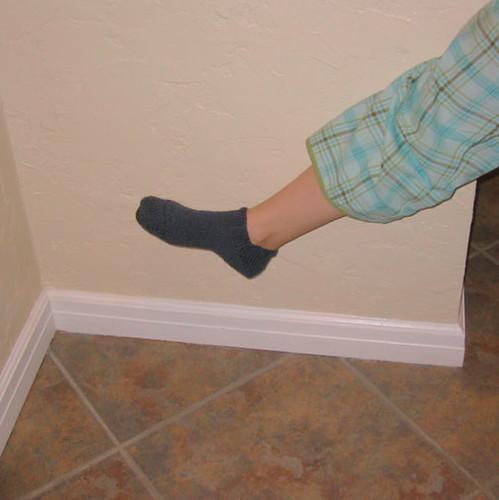 blue sock
