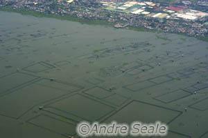 Vista aérea - mar de Manila