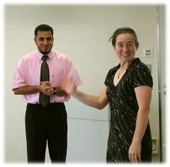 Dr. Amy Szarkowski with ETJ Coordinator Sayed