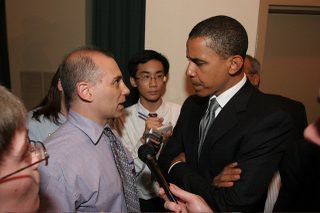 Lowell and Barack Obama | by Waldo Jaquith