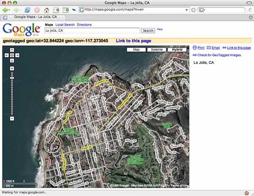 Google Maps - Hybrid