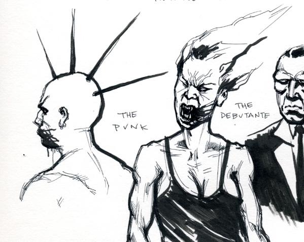 pen & ink sketches
