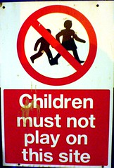 Children must not play on this site.