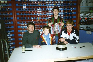 Me, Ray Houghton, Steve Staunton and the Coca-Cola Cup